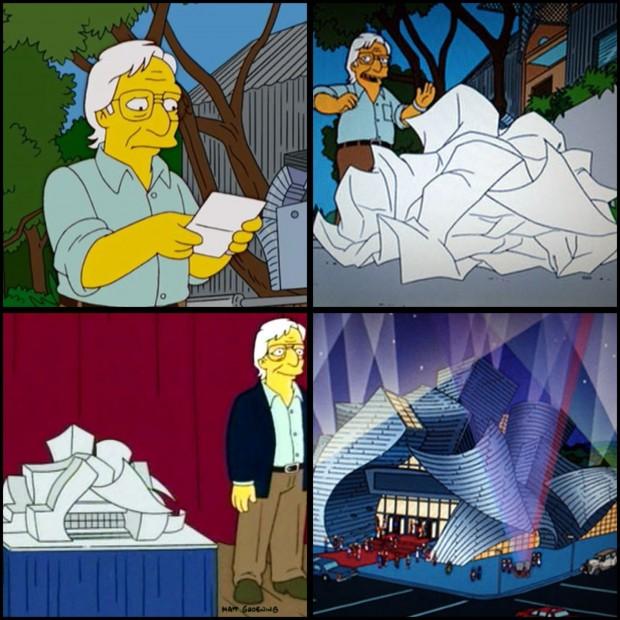 The Simpsons'da Frank Gehry