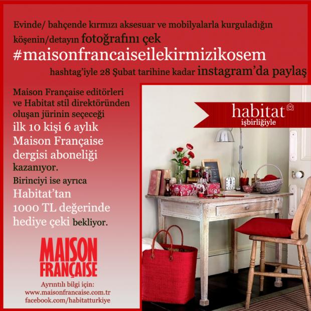 YARIŞMA DUYURUSU:        #maisonfrancaiseilekirmizikosem