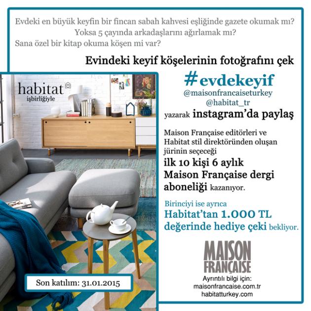Maison Française Instagram Yarışmaları 4: #evdekeyif