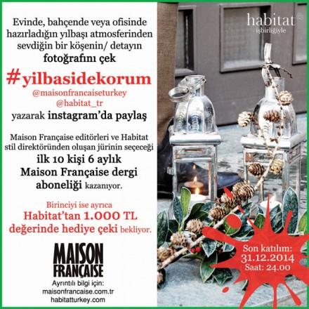 Maison Française Instagram Yarışmaları 3: #yilbasidekorum