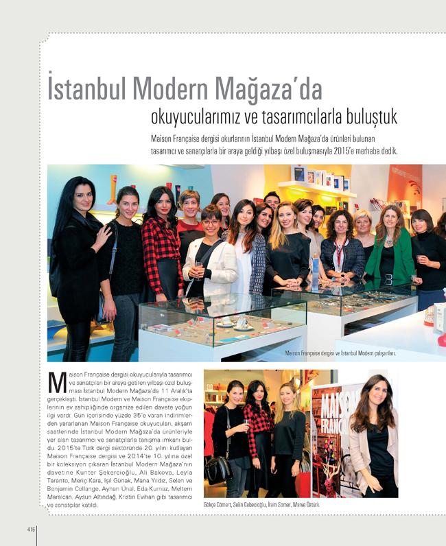 İstanbul Modern Mağaza'da  okuyucularımız ve tasarımcılarla buluştuk