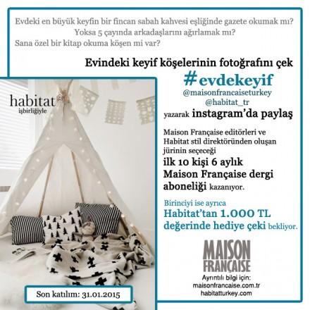 Maison Française Instagram Yarışmaları 4: #evdekeyif'e katılım için son günler