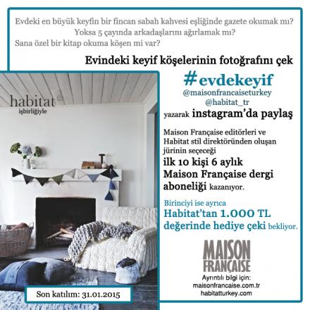 Maison Française Instagram Yarışmaları 4: #evdekeyif'e katılım devam ediyor