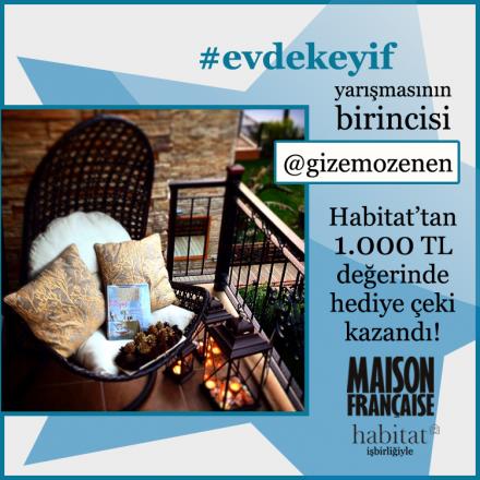 İşte #evdekeyif yarışmasının birincisi: @gizemozenen