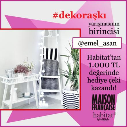 İşte #dekoraşkı yarışmasının birincisi: @emel_asan