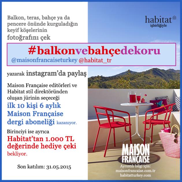 YENİ INSTAGRAM YARIŞMASI: #balkonvebahçedekoru