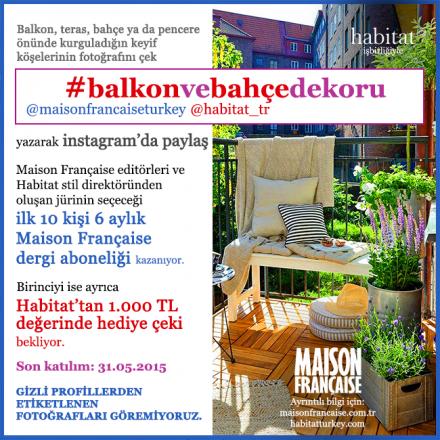 #balkonvebahçedekoru yarışması devam ediyor