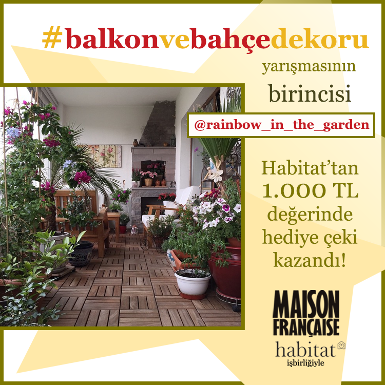 #balkonvebahçedekoru yarışmasının birincisi: @rainbow_in_the_garden