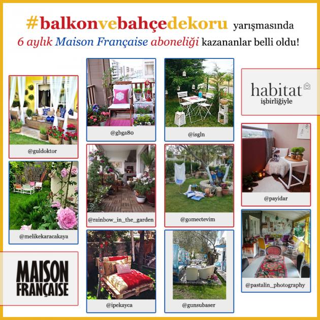 #balkonvebahçedekoru yarışmamızın finalistleri belli oldu!