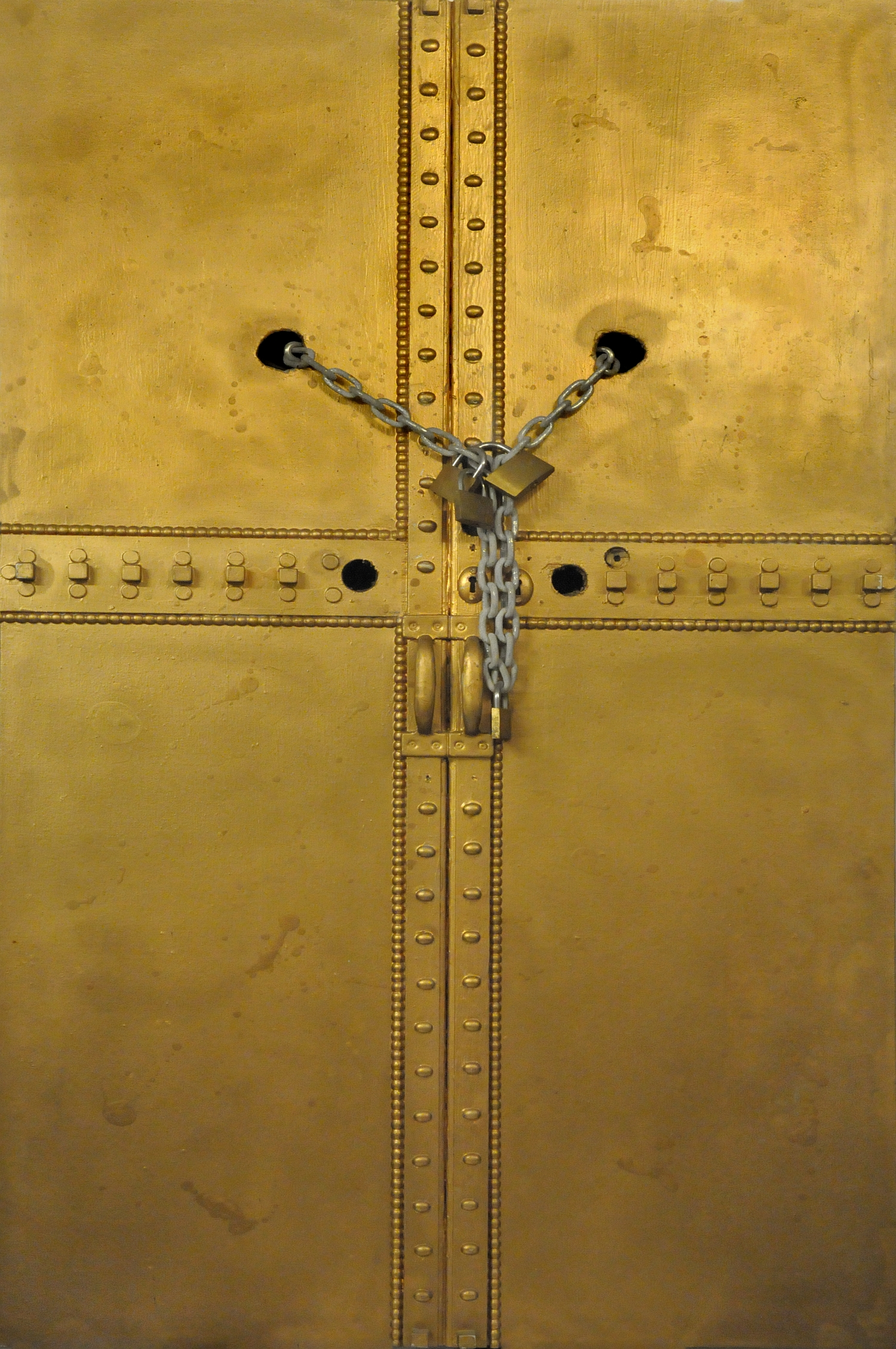 Dogancay Museum - Golden Metal Door, 1991