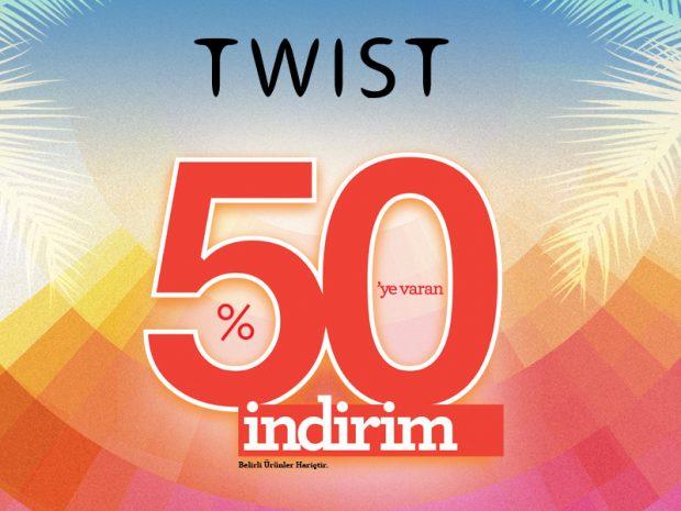 Twist'te %50'ye Varan İndirim Başladı!